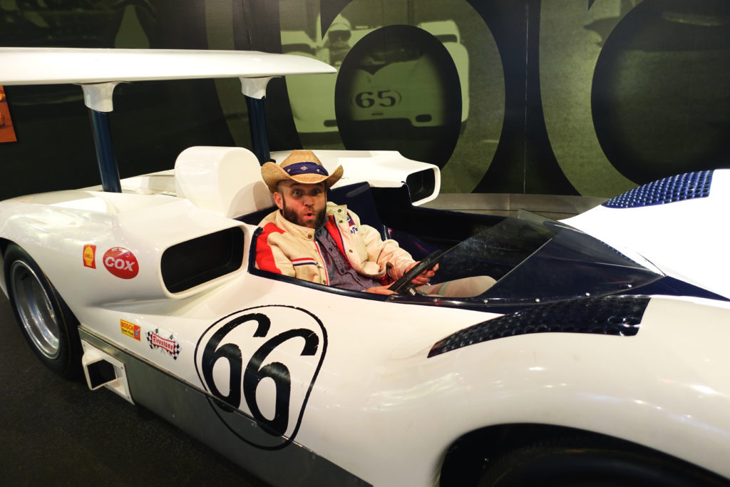 Chet Garner in a Chaparral Car in Midland, Texas