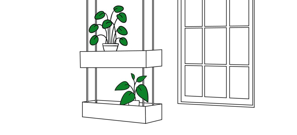 Hanging DIY herb garden