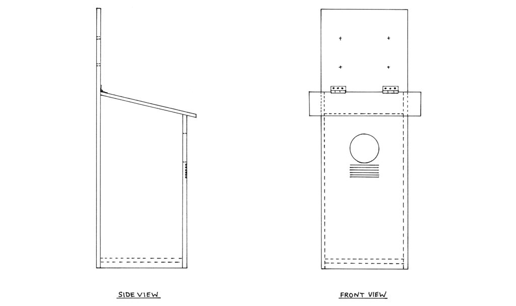DIY owl box diagram