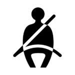 seat belt car warning sign